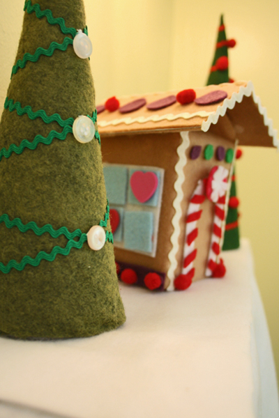 Felt holiday scene